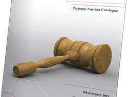Catalogue with gavel on front cover