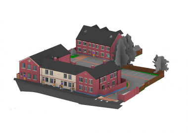 3d Plan of The Barracks Leicester